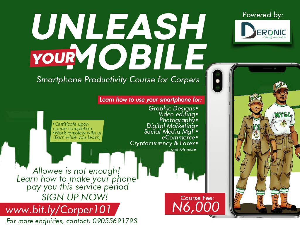 UNLEASH YOUR MOBILE (Corpers' Online Course)