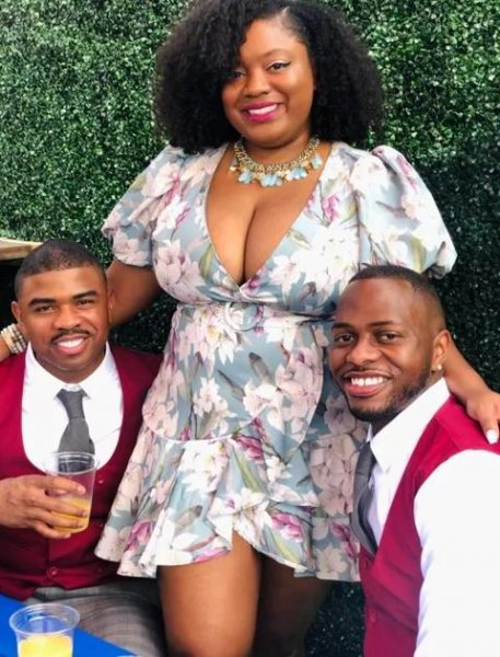 Nigerian Woman Living With Two Husbands Shows Them Off On Social Media